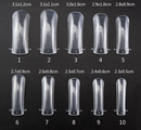 20 Pcs POLY GEL FALSE NAILs TIPS  FOR FULL COVER UV GEL ACRYLIC NAIL ART  NAILS EXTENSION MOLD FAKE TRANSPARENT MODEL FORM