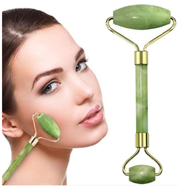 Jade Roller stone with Natural Anti Aging Jade Stone for Face Eye Massage