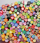 1000pcs Fimo Slices Mixed Fruit & symbol Polymer Clay Slices Cane Manicure Nail Art Decoration