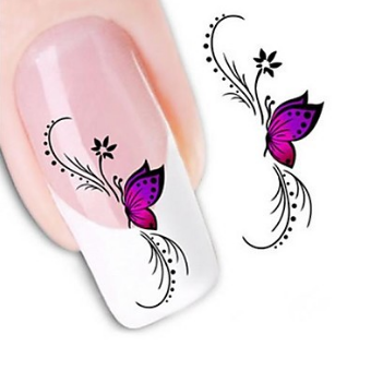 Nail stickers xf1438 water transfer 1 sheet