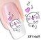 Nail stickers xf1469 water transfer 1 sheet