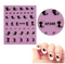 Nail stickers xf249 water transfer 1 sheet