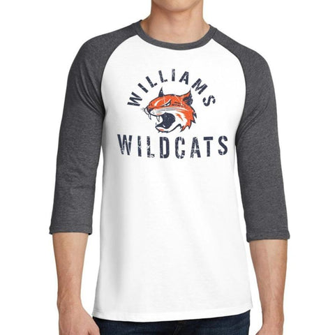 WILLIAMS WILDCATS RAGLAN SPIRIT WEAR WMS