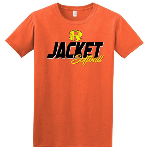0716 ORANGE ROCKWALL JACKETS SOFTBALL