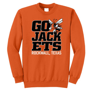 0918 ORANGE GO JACKETS CREWNECK