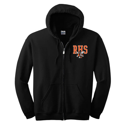0952 RHS ROCKWALL HIGH SCHOOL YELLOW JACKETS ZIP UP JACKET