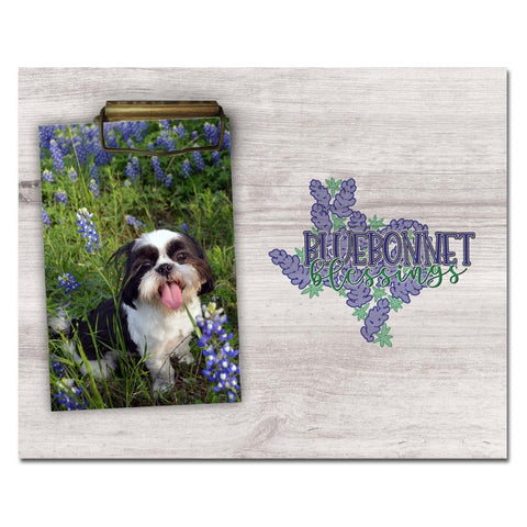 """Bluebonnet Blessings"" Photo Frame"