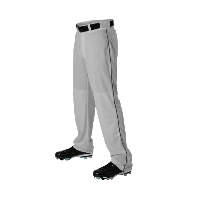 Alleson Youth Baseball Pants Open Bottom With Piping