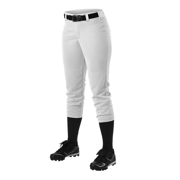 Alleson Belted Fastpitch Softball Pants No Piping