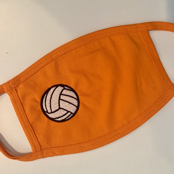 Volleyball Embroidered Mask