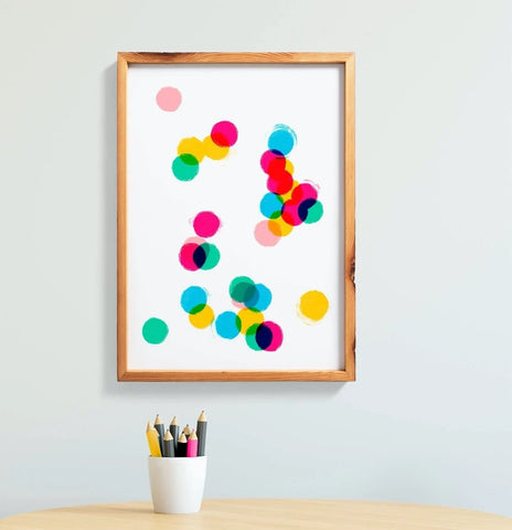 Affiche Colorful abstract confetti