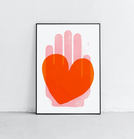 Affiche Graphic Red Heart