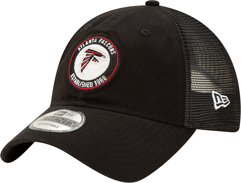Atlanta Falcons Men's Team Circle 920-Black-Adjustable Hat