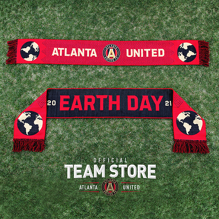 Atlanta United April Scarf of the Month - Portion of proceeds from the sale of this scarf will benefit Georgia Aquarium's Research and Conservation Efforts