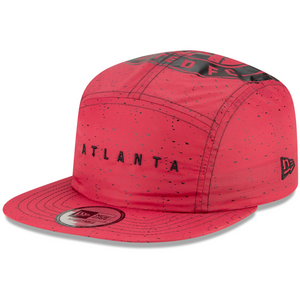 Men's Atlanta United FC New Era Red Camperspec - Panel Adjustable Hat