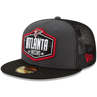 Men's New Era Graphite/Black Atlanta Falcons 2021 NFL Draft On-Stage 59FIFTY Fitted Hat