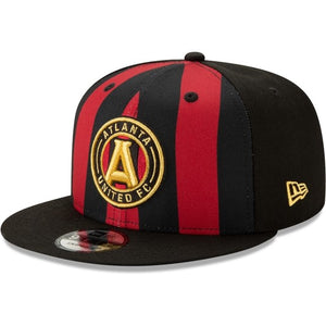 Men's Atlanta United FC New Era Black Jersey Hook 9FIFTY Adjustable Snapback Hat