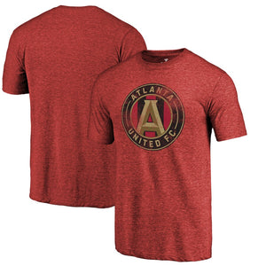 Atlanta United Men's Distressed Logo Tee-Red