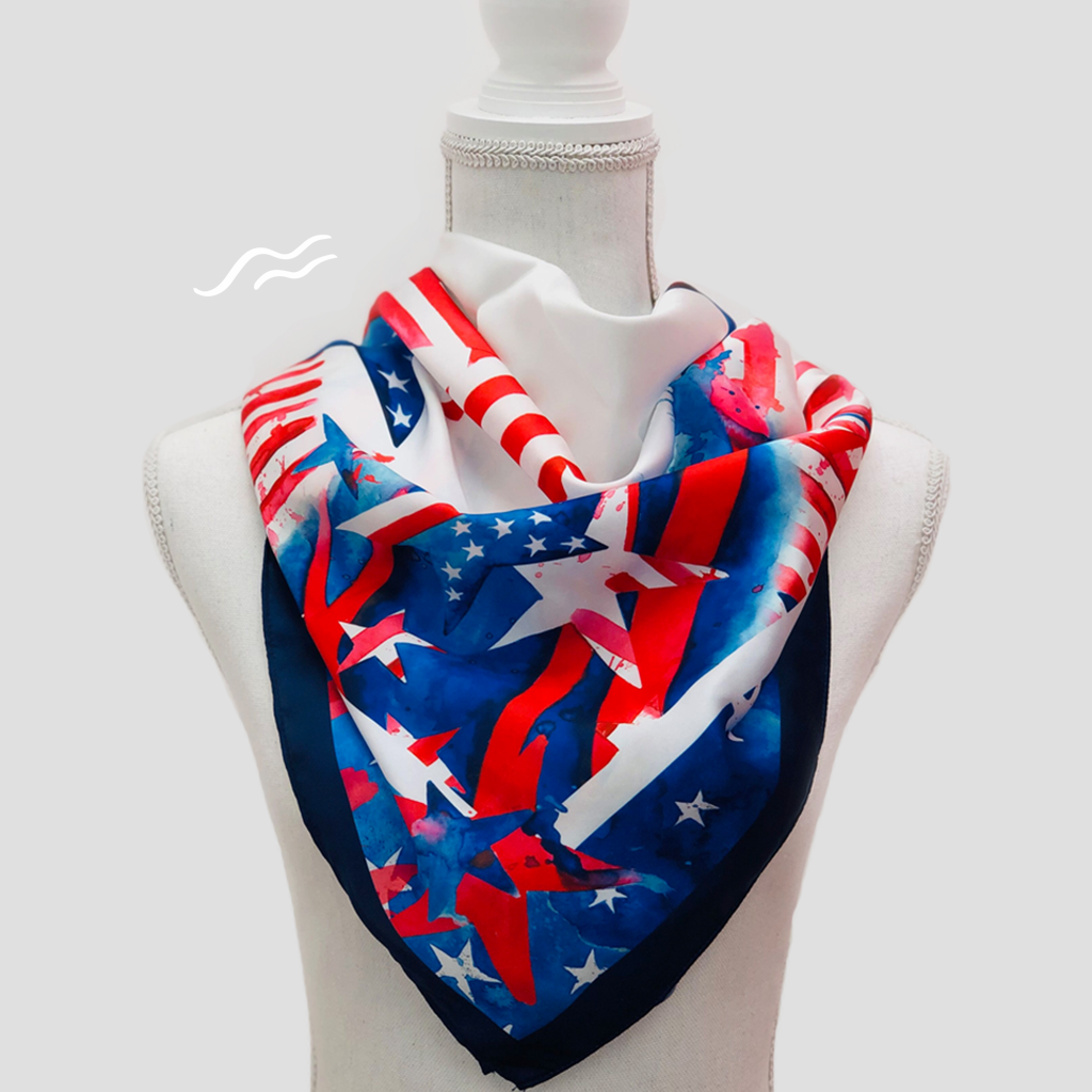 USA Square Scarf - Polyester