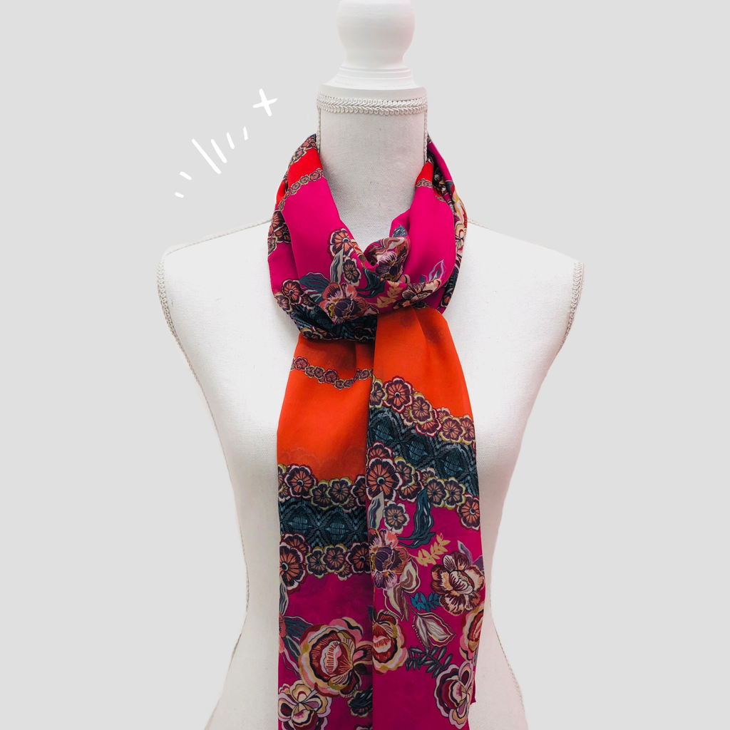 Autumn Shawl - Polyester Mousseline