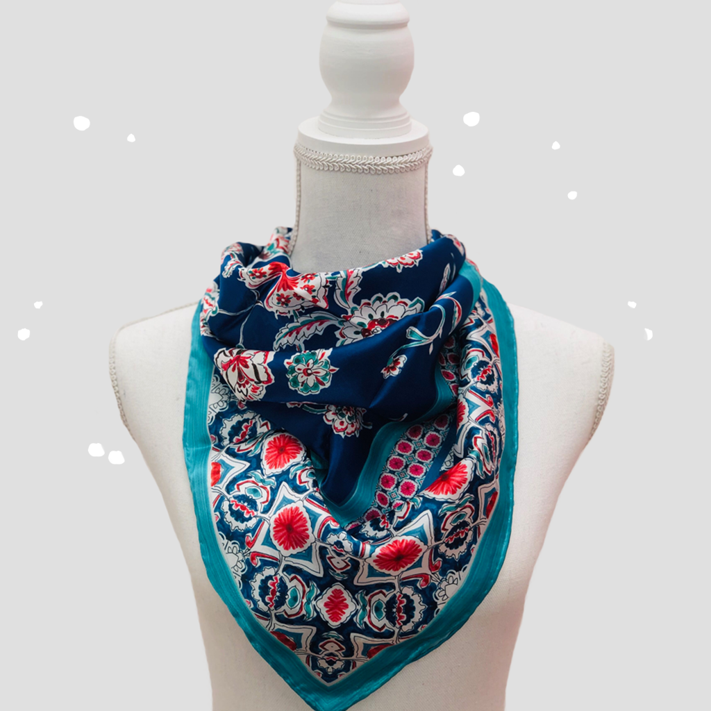 Arabesque Square Scarf - Silk Satin