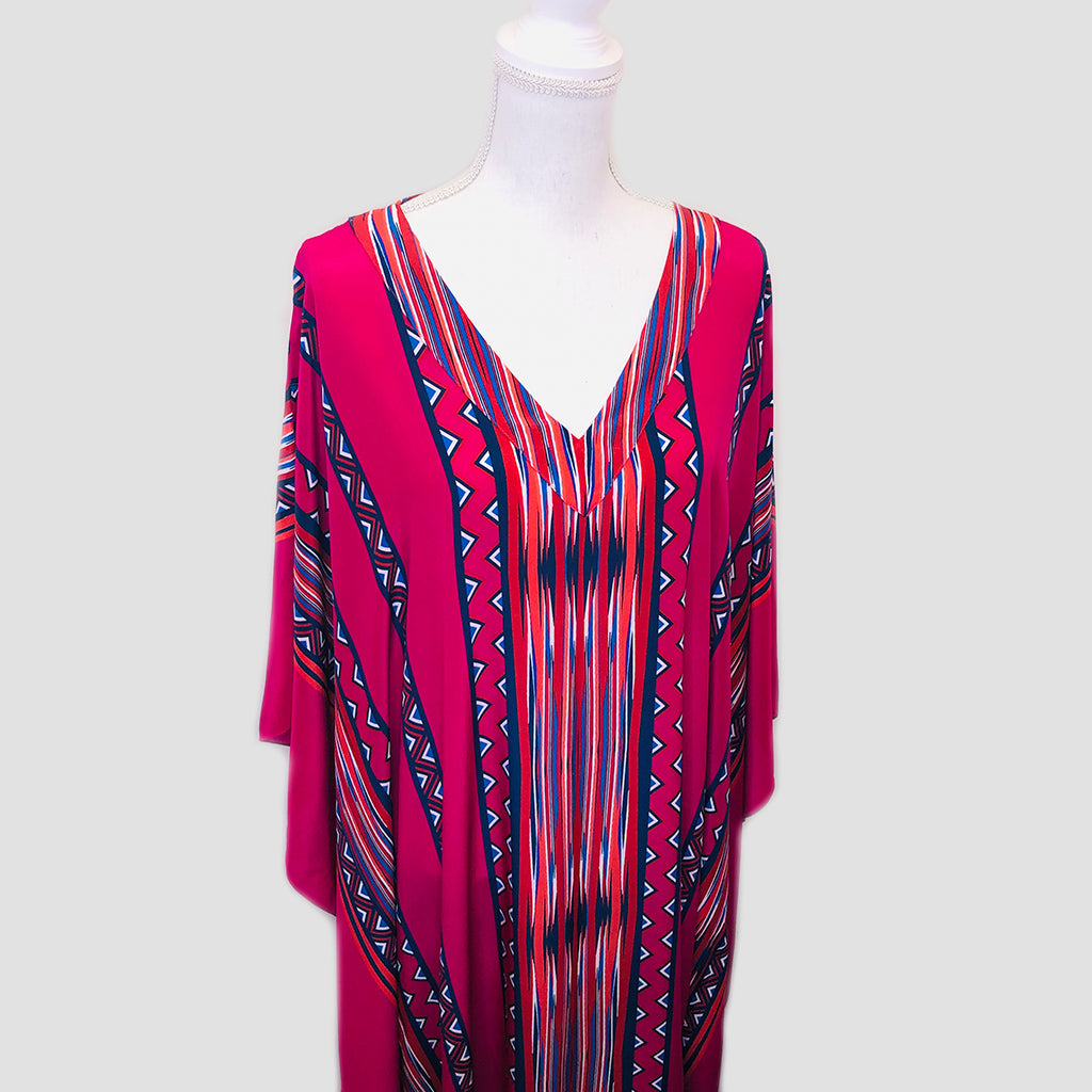 Long Silk Caftan - Tribal