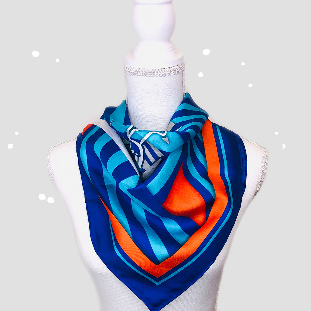Parkhaus 1 Square Scarf - Silk Twill
