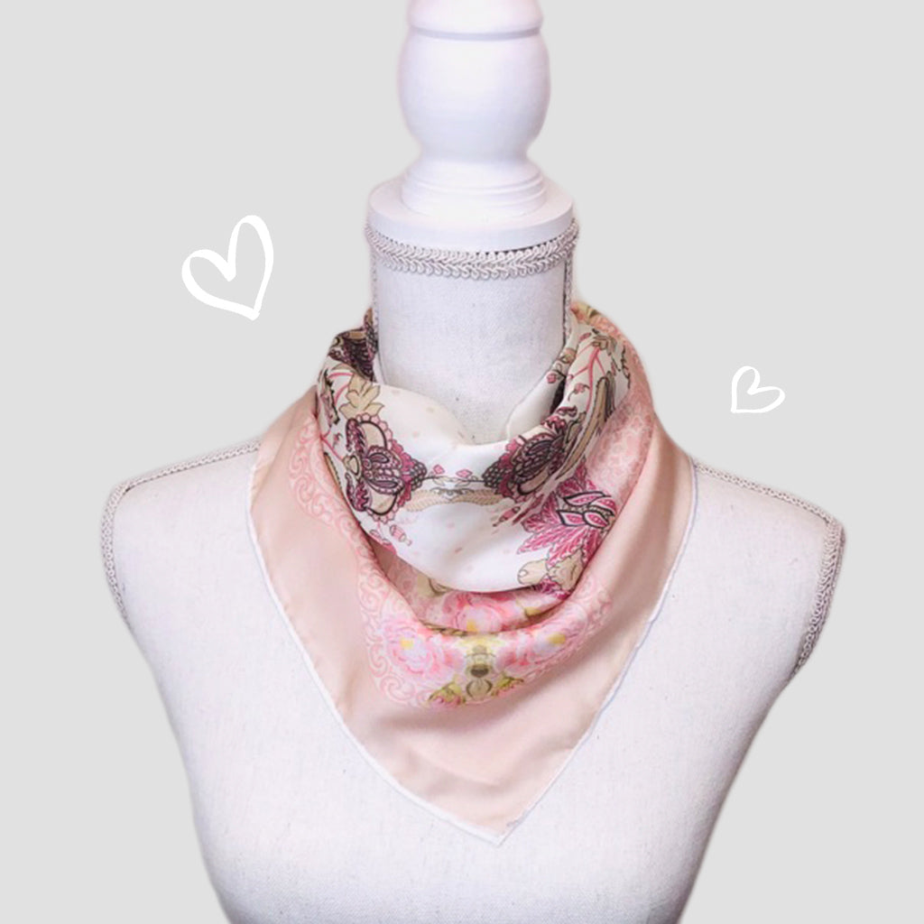 Blush Small Square Scarf - Polyester