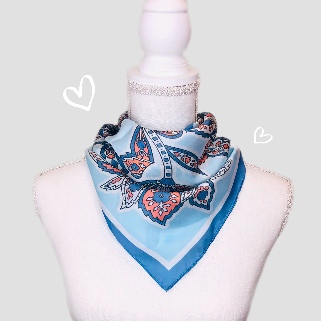 Alice Mini Square Scarf - Polyester Satin