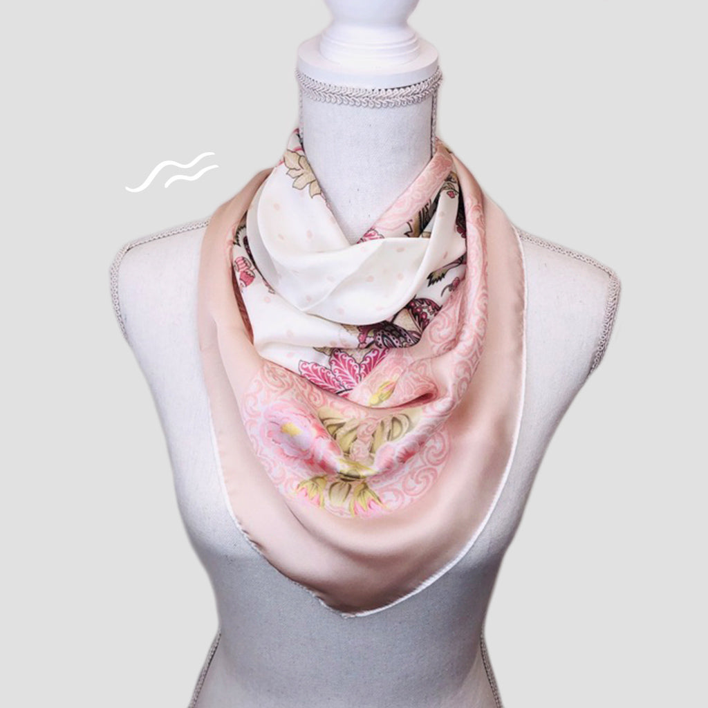 Blush Square Scarf - Polyester