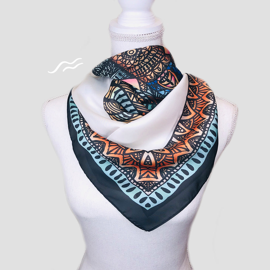 Mammoth Square Scarf - Polyester Satin