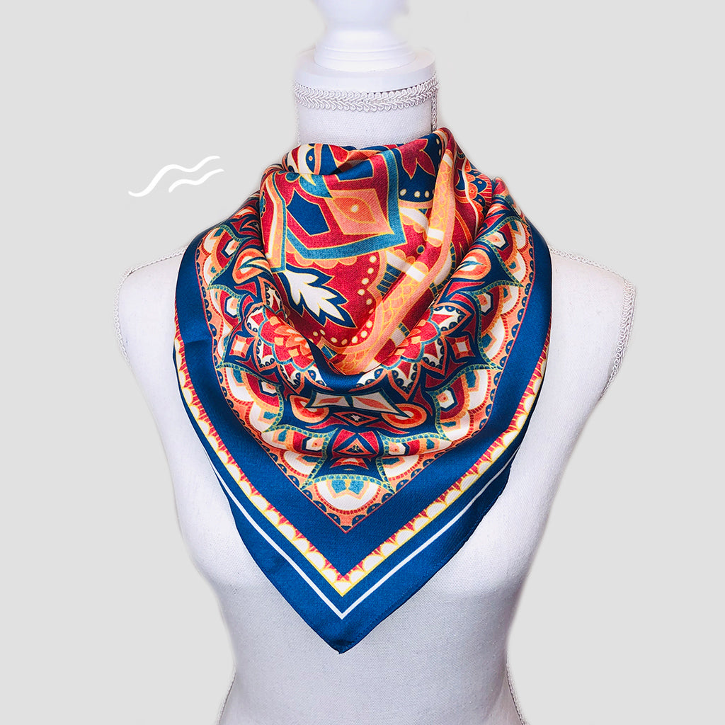 Rajasthan Square Scarf - Polyester Twill