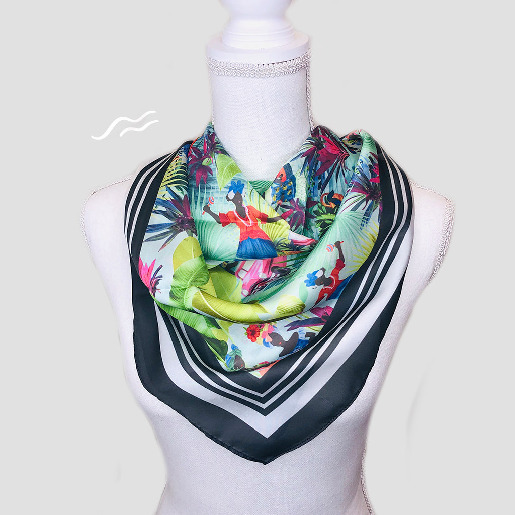 Cubanas Square Scarf - Polyester Satin