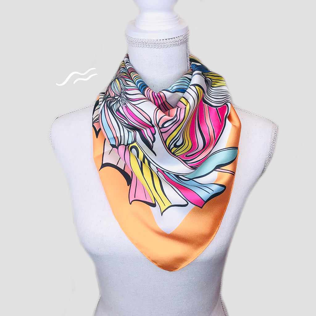 Livia Square Scarf - Polyester Twill
