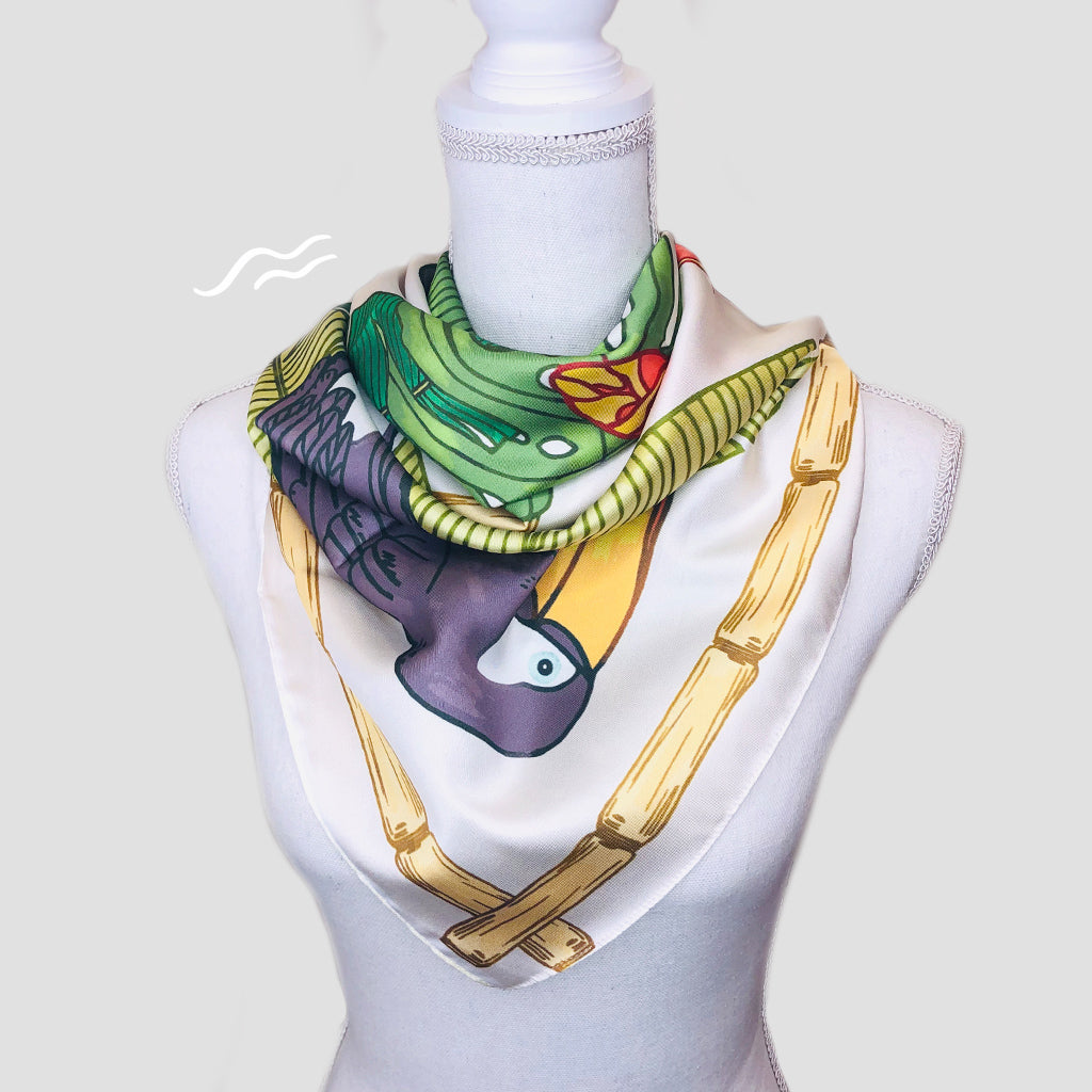 Tropical Toucan Square Scarf - Polyester