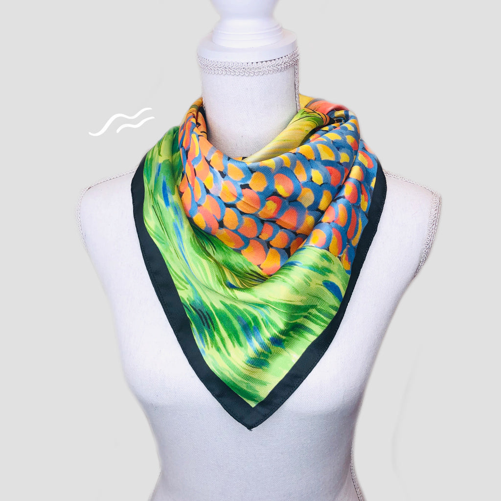 Hibiscus Square Scarf - Polyester Twill