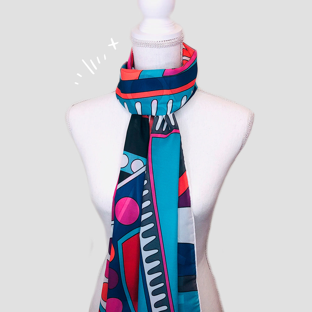 Cubism Shawl - Polyester Mousseline