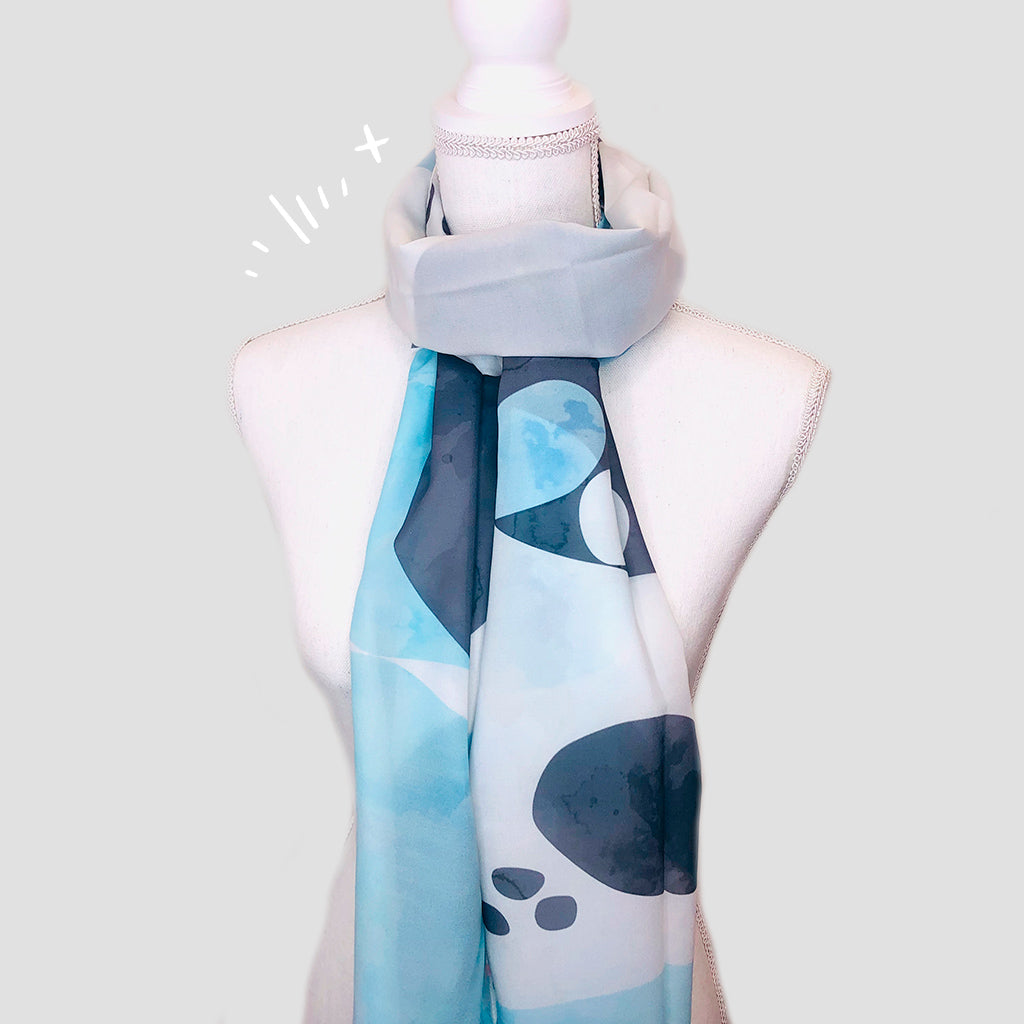 Watercolor Shawl - Polyester Mousseline