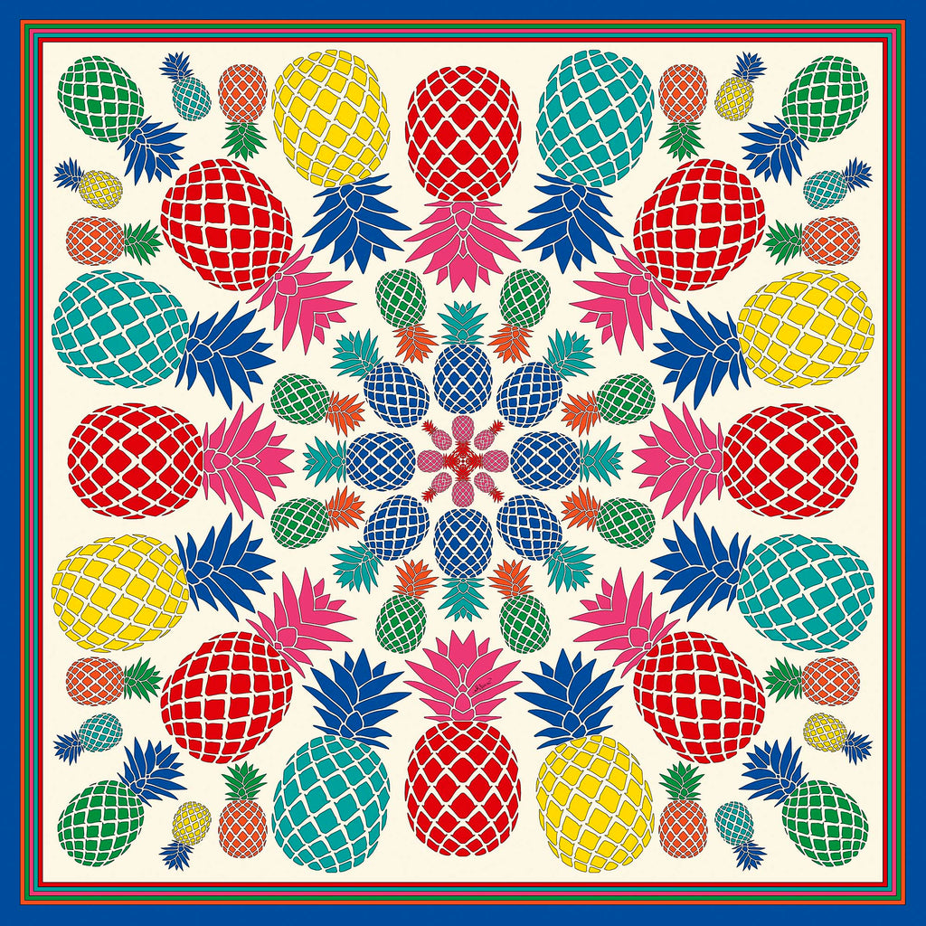 Pineapples Small Square Scarf - Polyester