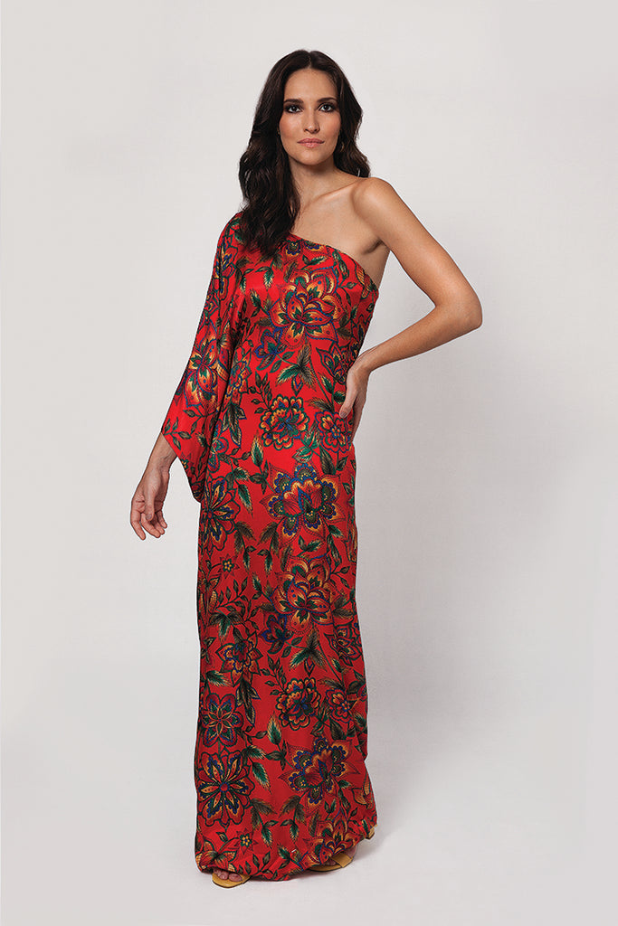 Caftan One Shoulder - Floral