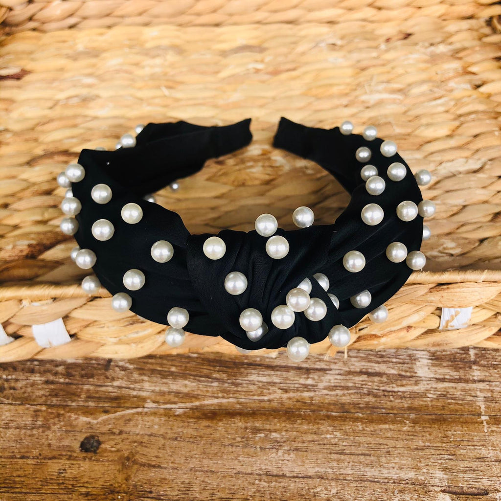 Headband - Satin Pearls Tiara