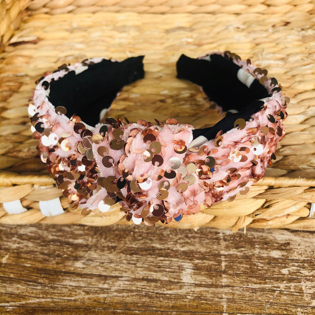 Headband - Sequin knotted Tiara