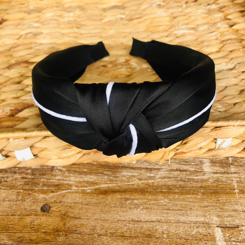 Headband - Black Satin Tiara