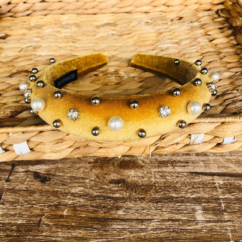Headband - Velvet Stones and Pearls Tiara