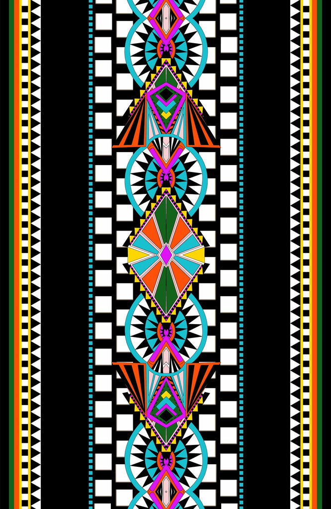 Tribal Geometric Pareo - Viscose