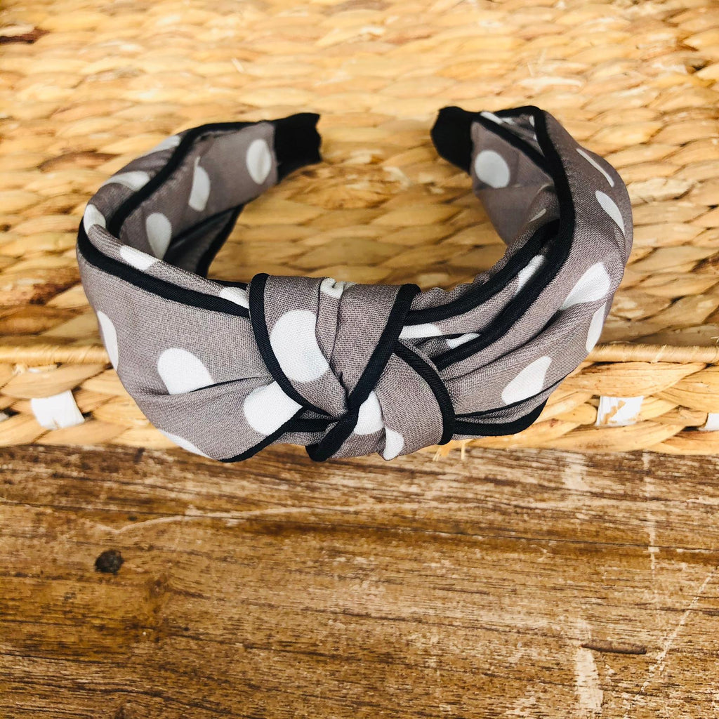 Headband - Silk Polka Dots Tiara