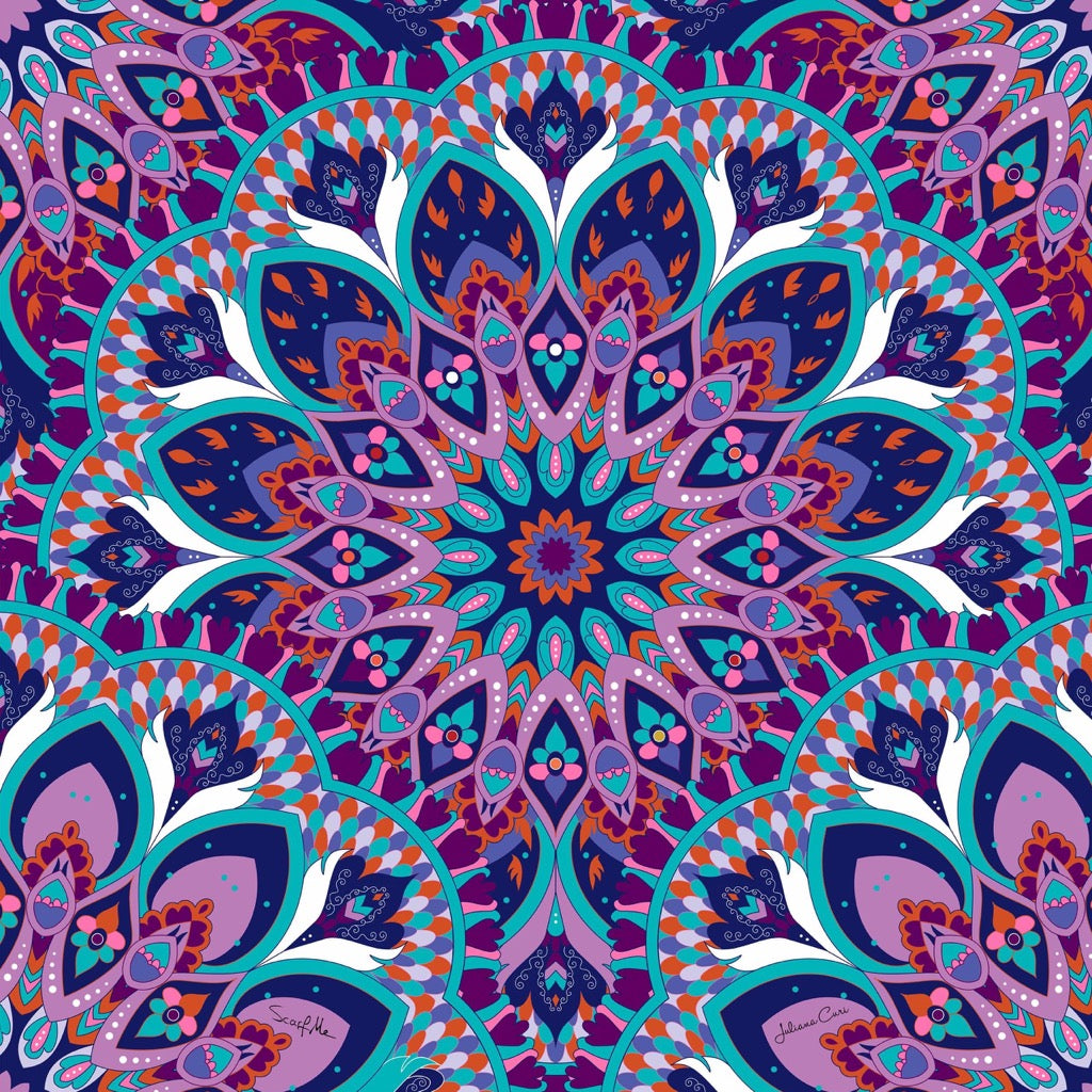 Mandala Purple Pareo - Viscose