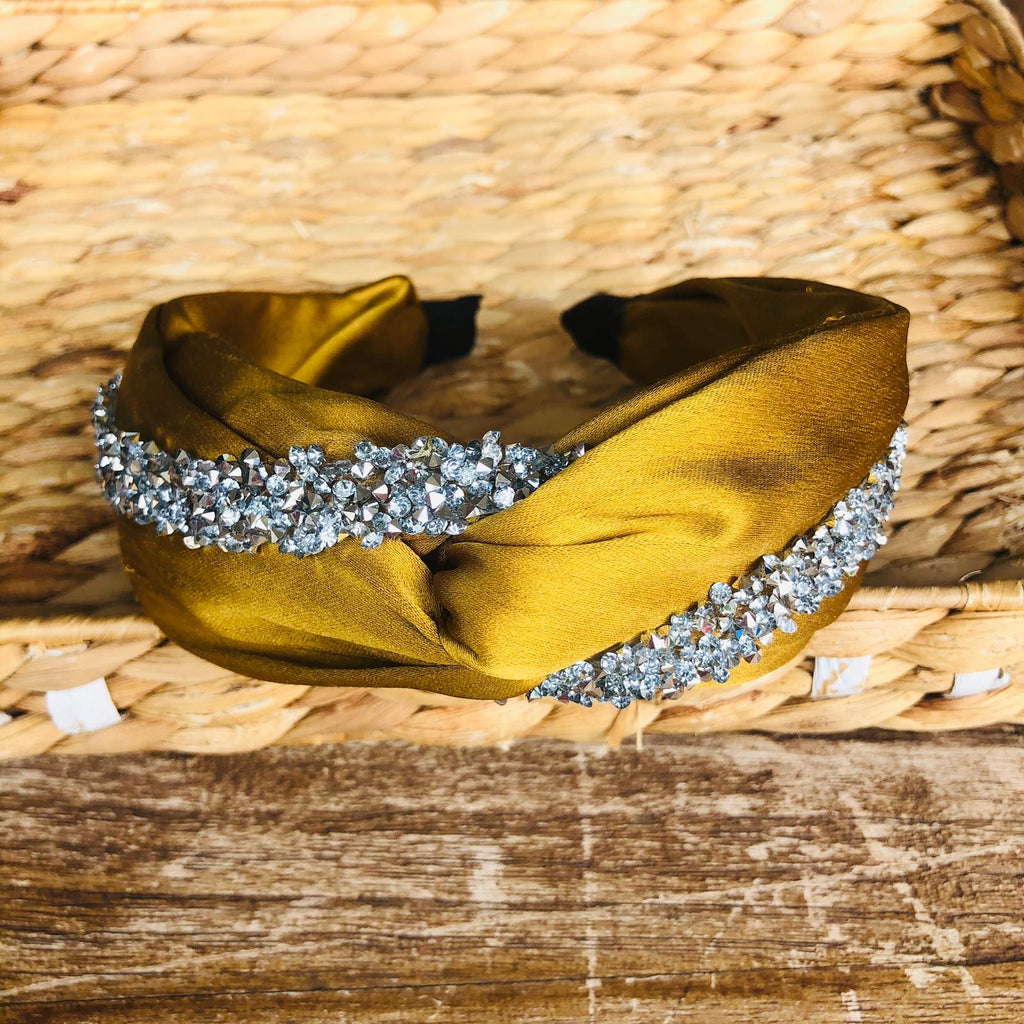 Headband - Satin Stones Twist Tiara