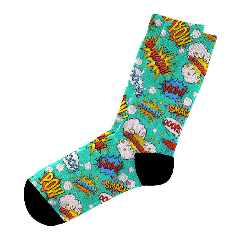 Κάλτσες #doyoudaresocks Digital Printed Casual Comic (code 60082)