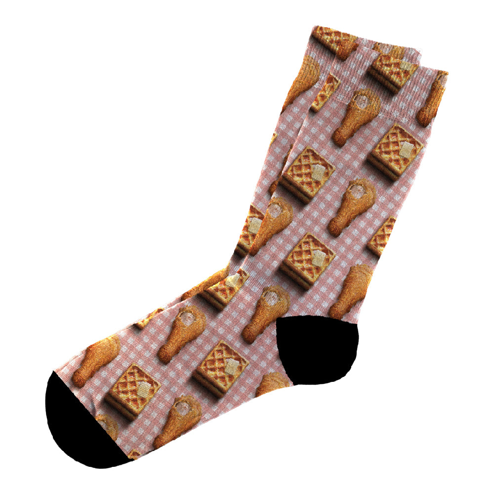 Κάλτσες #doyoudaresocks Digital Printed Casual Chicken & Waffle (code 60100)